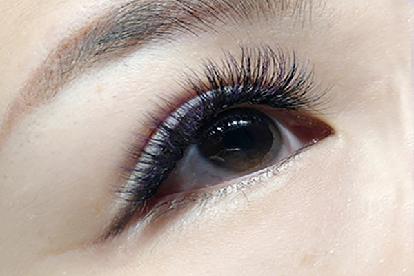 6D美睫-紫色睫毛